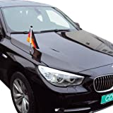 Soporte de Bandera para Coches con sujeción magnética Diplomat-1 España con Escudo Oficial: Amazon.es: Jardín
