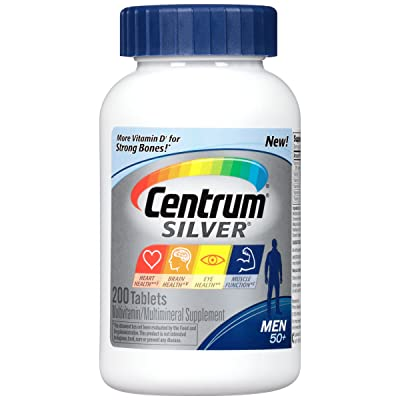 Centrum Silver Men Multivitamin / Multimineral Supplement Tablet, Vitamin D3