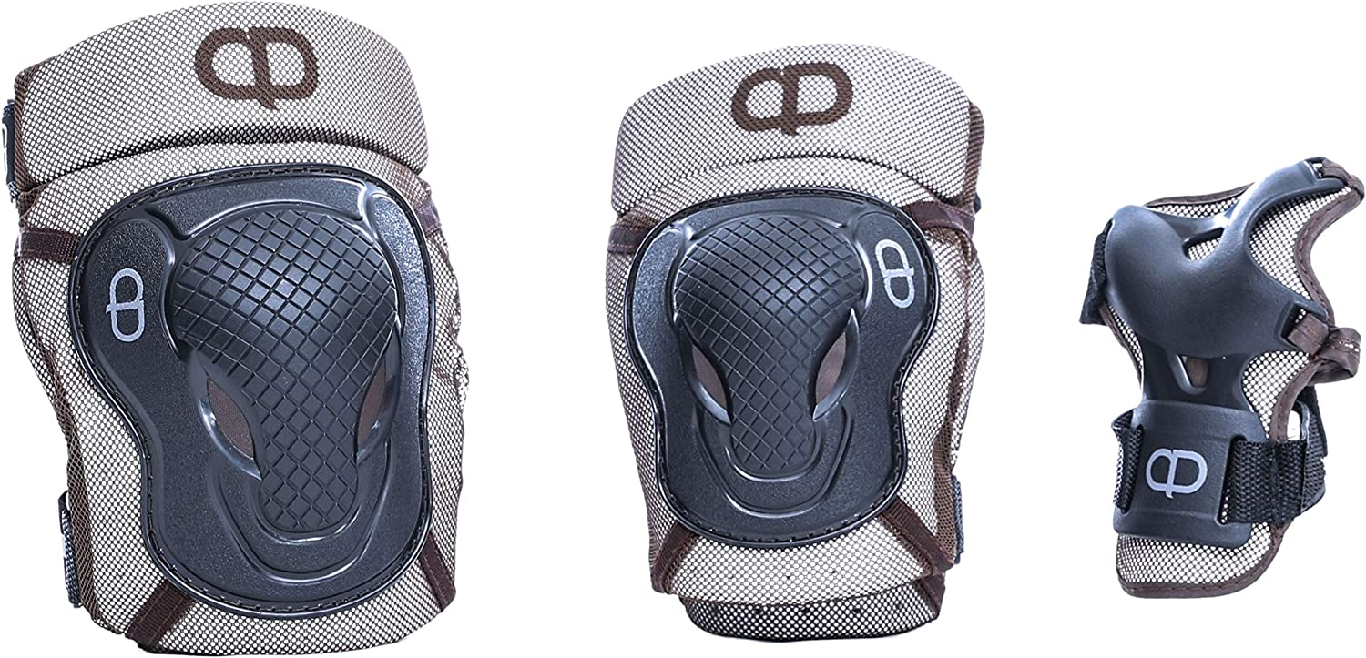 Medium and Large Size : Small 3 Colors for Selection DA Deluxe Armour Teen//Adult Knee /& Elbow pad with Wrist Guard