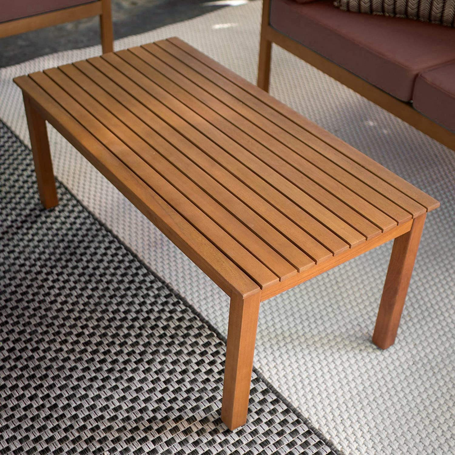 Prime Amazon Com Low Coffee Table Wooden Outdoor Patio Rectangle Download Free Architecture Designs Scobabritishbridgeorg