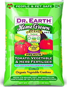 Dr. Earth 733 Organic 5 Fertilizer, Tomato Vegetable Herb, 25-Pound