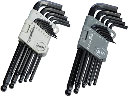 Kingsdun Hex Key Wrench Set 9 Pcs Industrial Grade Ball End and Long /& Short Arm Hex-L Allen Wrench Set with Hard Case