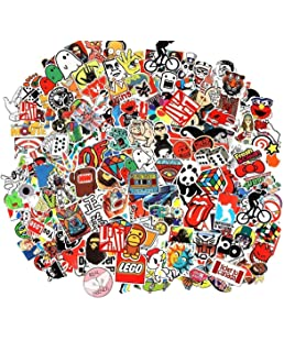 Cool Laptop Stickers 100 Psc Pack RipNDip Sticker for Laptop Skateboard Helmet Motorcycle,Bicycle,Skateboard Luggage,Bumper Stickers Hippie Decals Bomb Waterproof 100 PCS