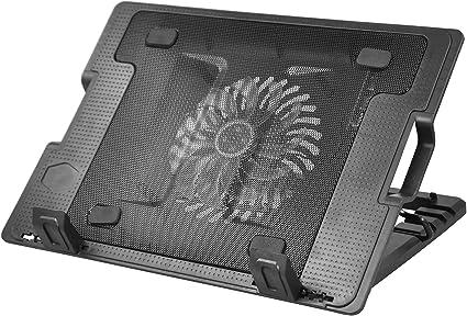 TRIXES Support/dordinateur Portable avec/1 Port USB/et/Ventilateur/de Refroidissement LED Ideal pour Les /écrans 9 et 17.