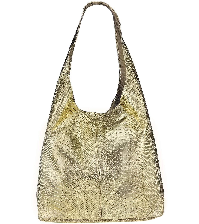 Freyday Damen Ledertasche Shopper Shopper Shopper Wildleder Handtasche Schultertasche Beuteltasche Metallic look B074M9SCRK Schultertaschen Haltbarkeit 29afbe
