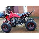 125cc Bandit Quad Bike (ATV) Automatic Off Road Petrol with reverse Red