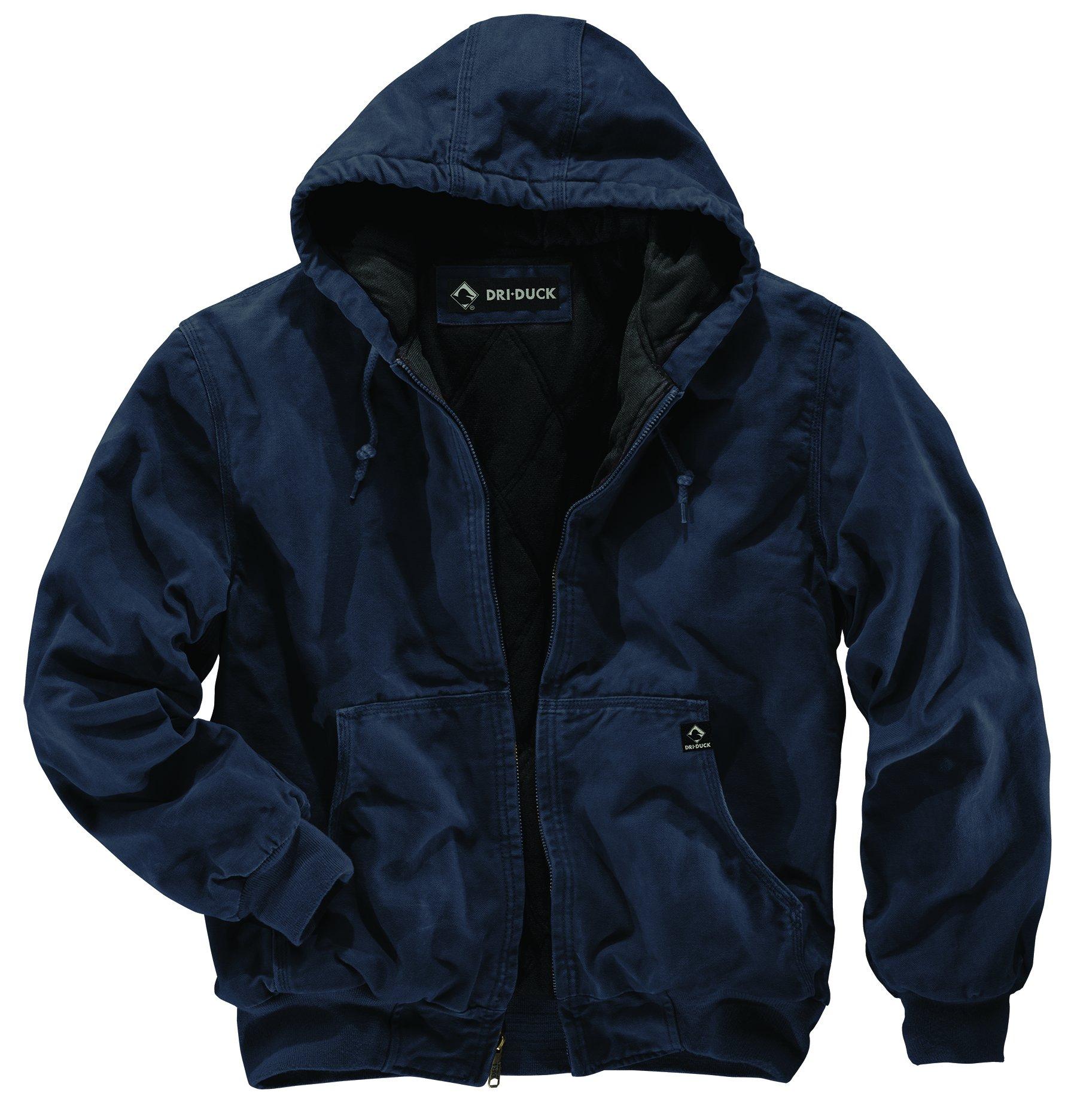 DRI Duck Men's 5020 Cheyenne Hooded Work Jacket, Navy, Large by DRI Duck