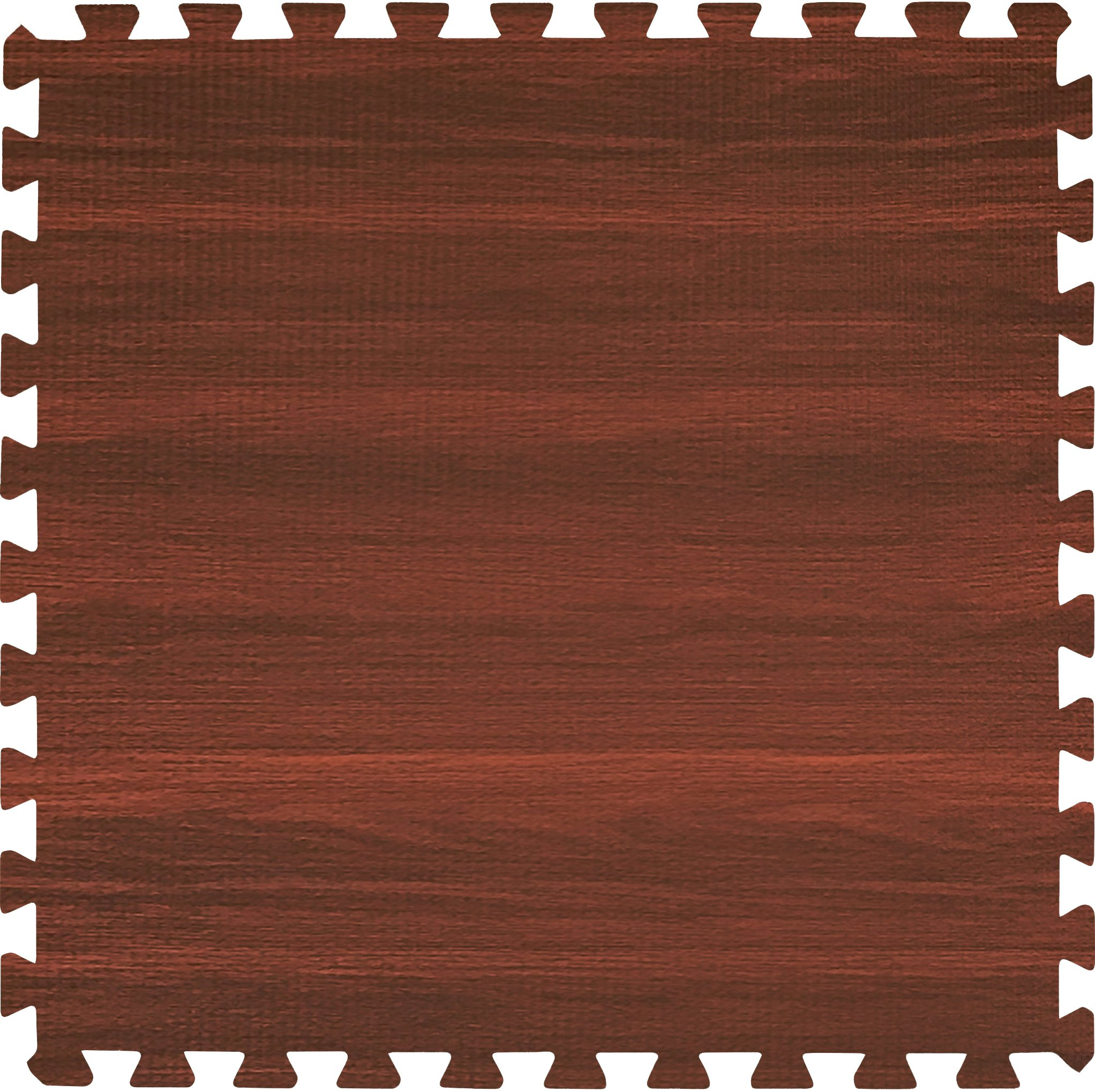 Sorbus Wood Floor Mats Foam Interlocking Wood Mats Each Tile 4 Square Feet 3/8-Inch Thick Puzzle Wood Tiles with Borders – for Home Office Playroom Basement (6 Tiles 24 Sq ft, Wood Grain - Cherry) by Sorbus (Image #6)