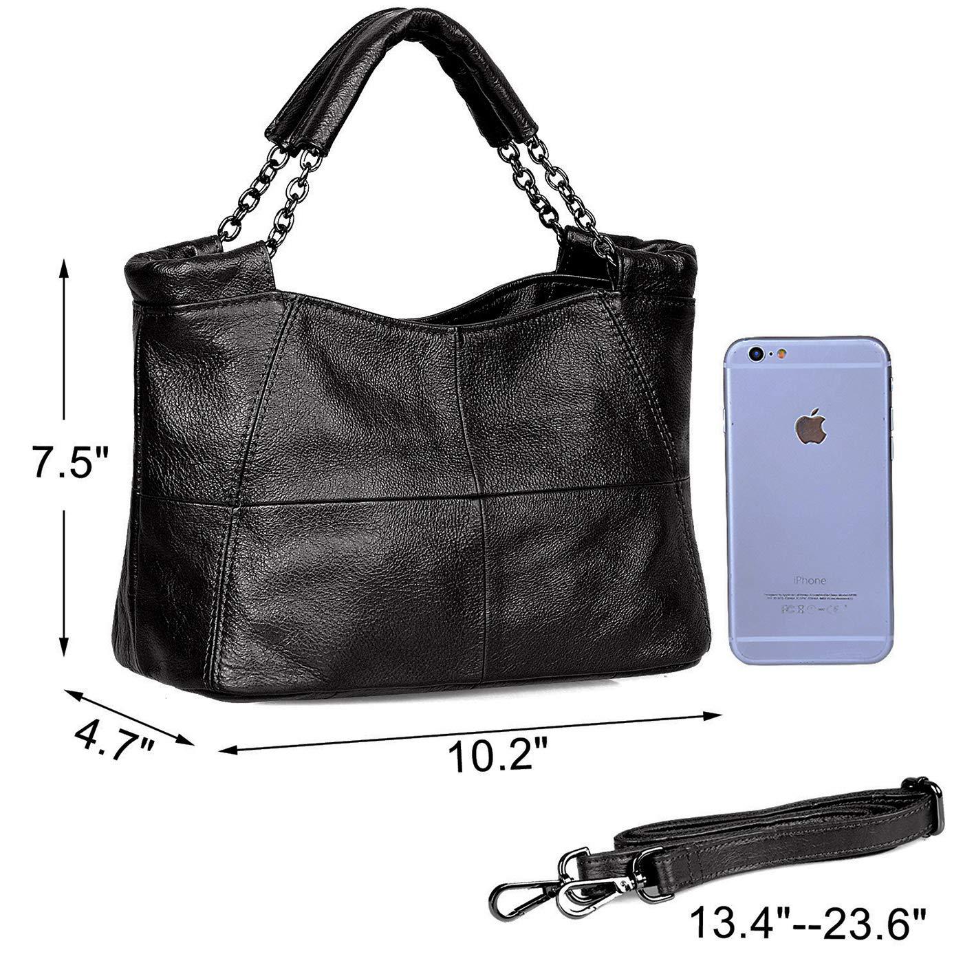Amazon.com  Jack Chris Splicing Satchel Crossbody Bags for Women Leather  Top Handle Handbags c1cd620a0d306