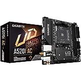 Gigabyte A520I AC (AMD Ryzen AM4/Mini-ITX/Direct 6 Phases Digital PWM with 55A DrMOS/Gaming GbE LAN/Intel WiFi+Bluetooth/NVMe