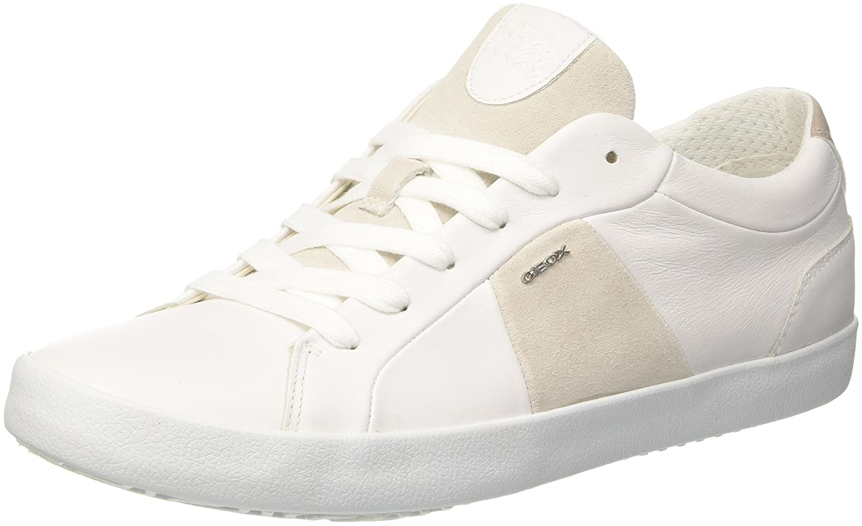 Geox u warley b scarpe da ginnastica basse uomo amazon shoes bianco pelle