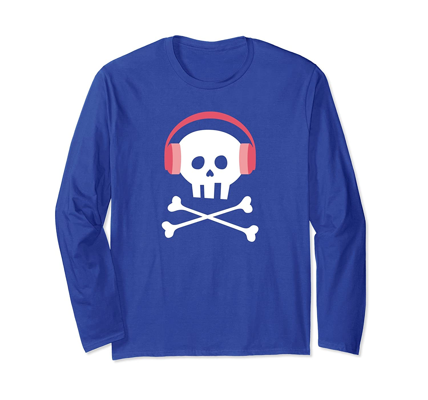 Cute Long-Sleeved Skull Shirt for Girls and Women-mt