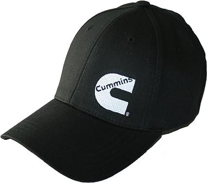 "Cummins Diesel /""Powered by Cummins/"" Black Sandwich Dodge Ram Trucker Cap Hat"