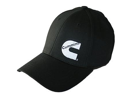 4fcb3edbae2cf Amazon.com  Cummins Diesel Basic Black Stretch Fit Fitted Cap ...