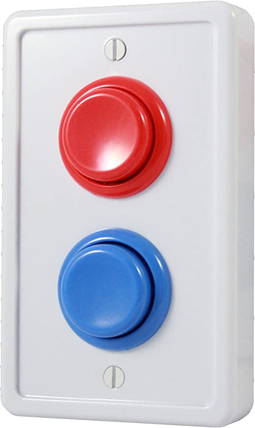 Single Light Switch Plate Cover Blue Hockey