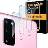 "[ 3 Pack] UniqueMe Camera Lens Protector for Samsung Galaxy S20(6.2"") Screen Protector Tempered Glass Case Friendly[New Versi"