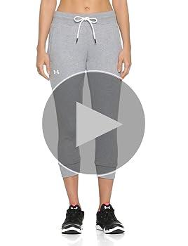 Under Armour 1320610 UA Slim Leg Crop - Pantalón de felpa para ...