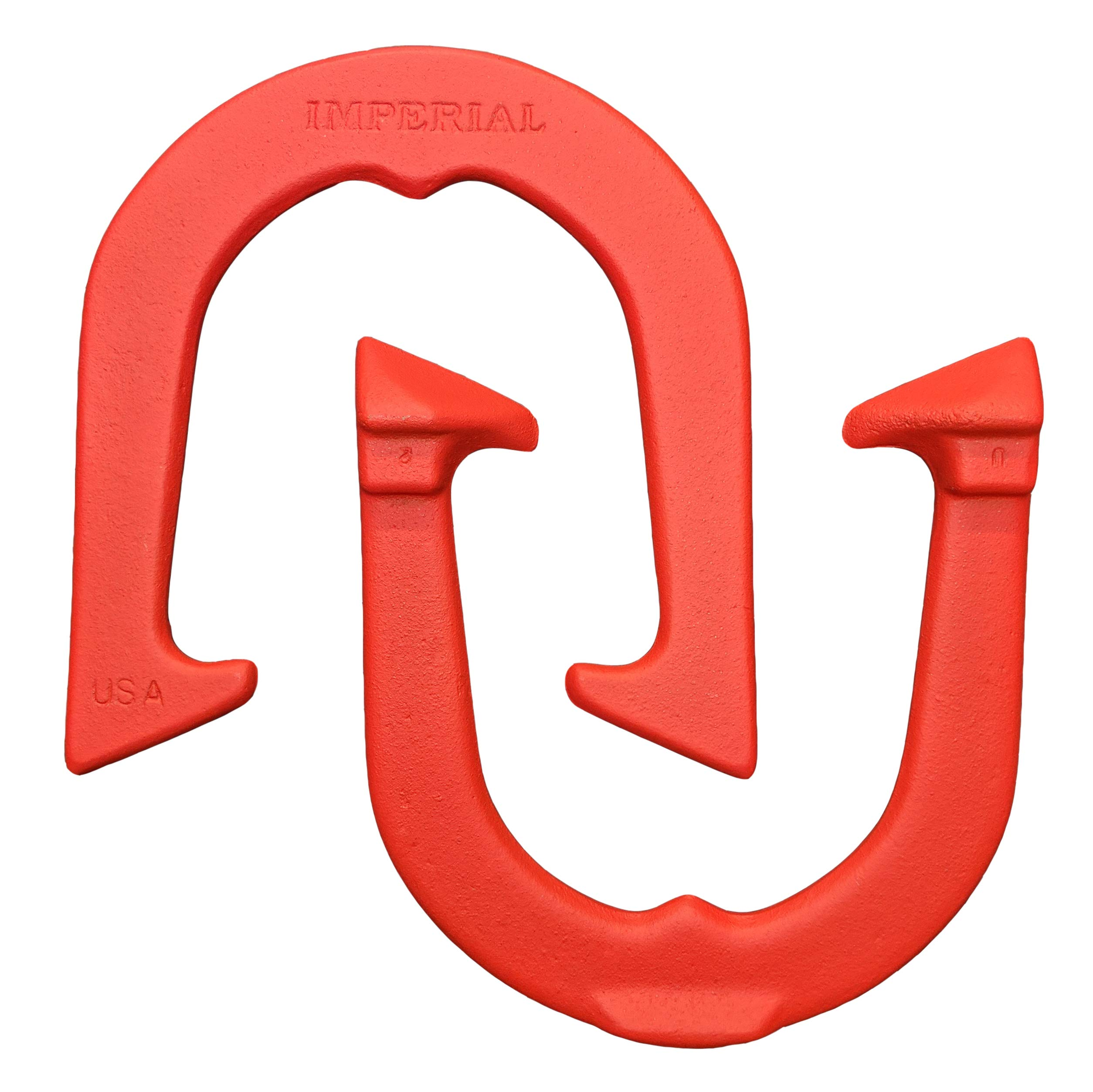 Imperial Professional Pitching Horseshoes- Made in USA! (Red- Single Pair (2 Shoes))