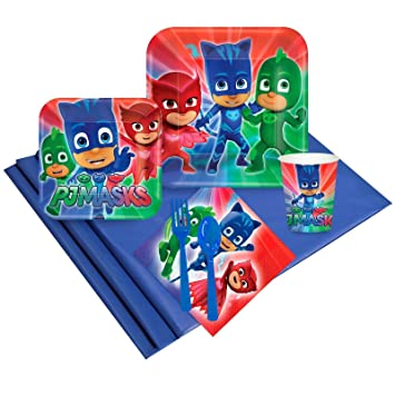 PJ Masks Party Supplies - Party Pack for 24 Guests