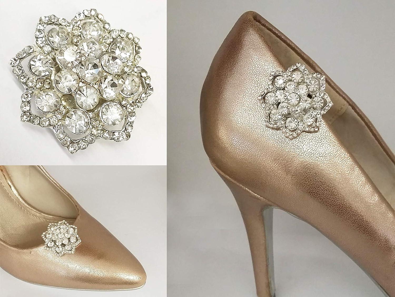 5883b70f La Loria Mujer Clips de Zapatos Curved Shine Decoraciones Prendedores  Adornos para Zapatos, 1 Par: Amazon.es: Zapatos y complementos