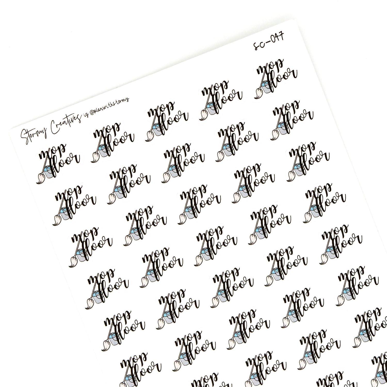 50 stickers Decorative Planning Mop Floor Stickers 0.8 wide Sticker