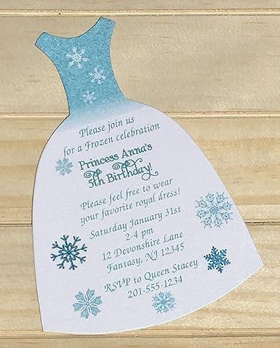 Amazon Com Set Of 10 Girls Birthday Party Invitations Frozen Elsa