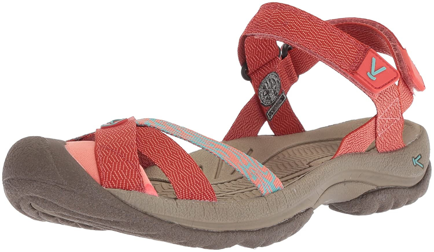 KEEN Women's Bali Strap Sandal B072281KFK 5.5 B(M) US|Summer Fig/Crabapple