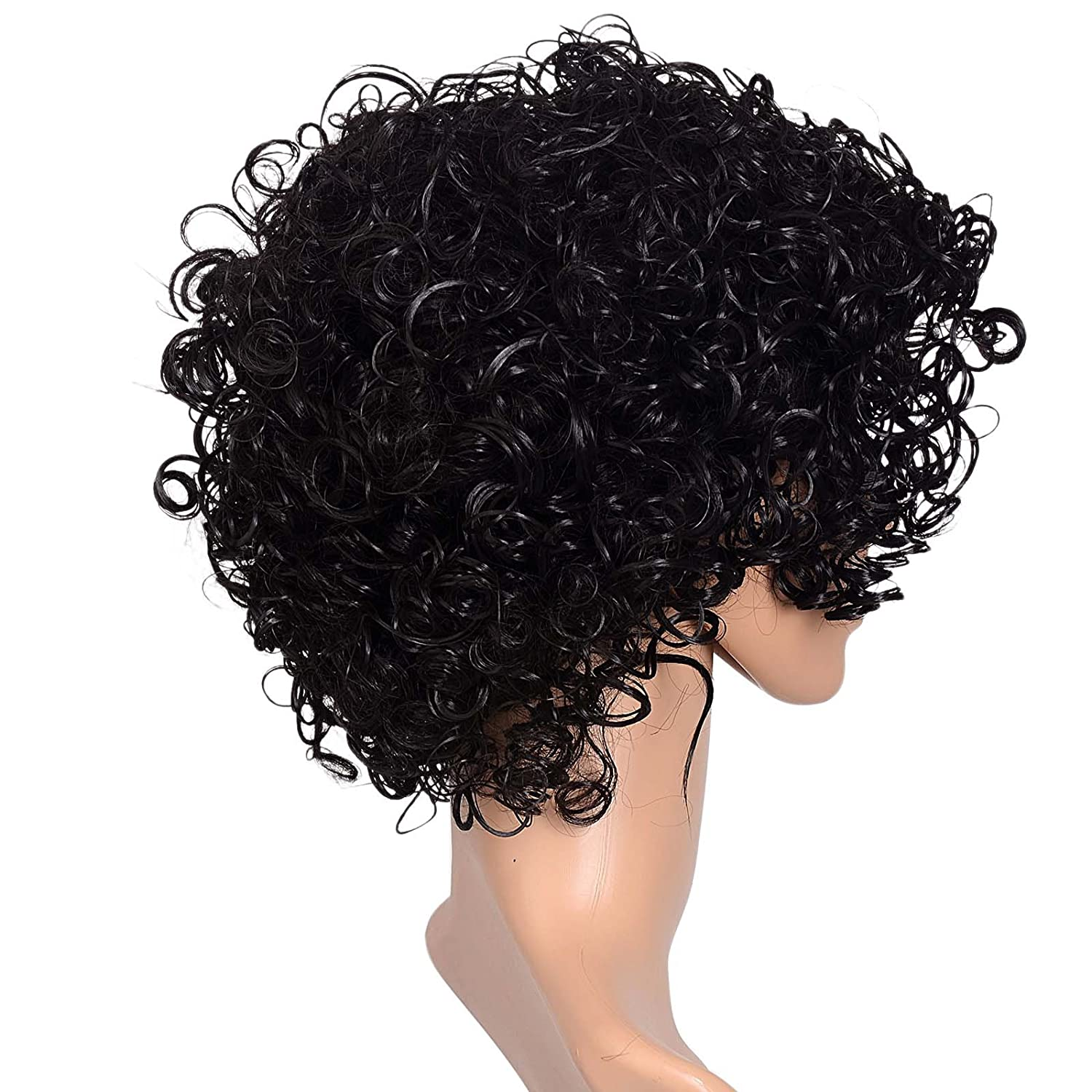 Kamo Short Synthetic Lace Front African American Hair Afro Kinky