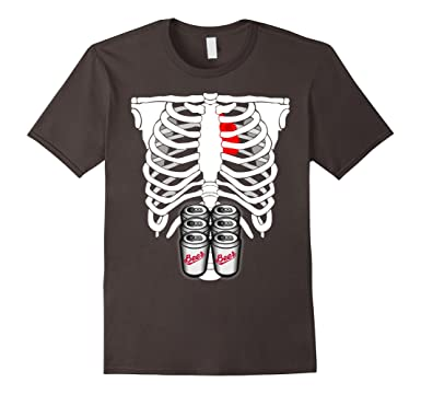 36f73548 Amazon.com: Skeleton Six Pack Beer Abs Xray Funny Costume: Clothing