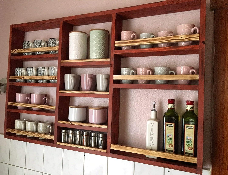 Küchenregal XXL -hergestellt aus recyceltem Altholz - Upcycling
