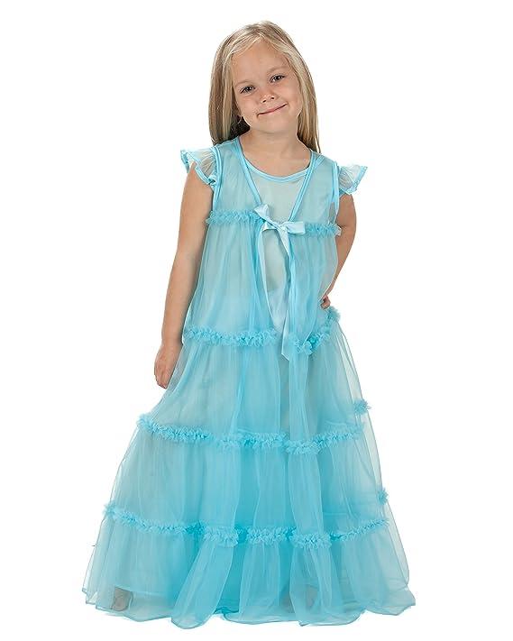 Amazon.com: Laura Dare Big Girls Princess Peignoir Nightgown and ...