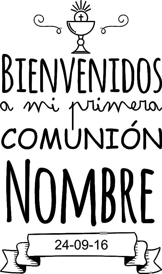 Enkolor Decoración Comunión/Vinilos Personalizados/Nombre/Fecha/Niño/Niña /Colores
