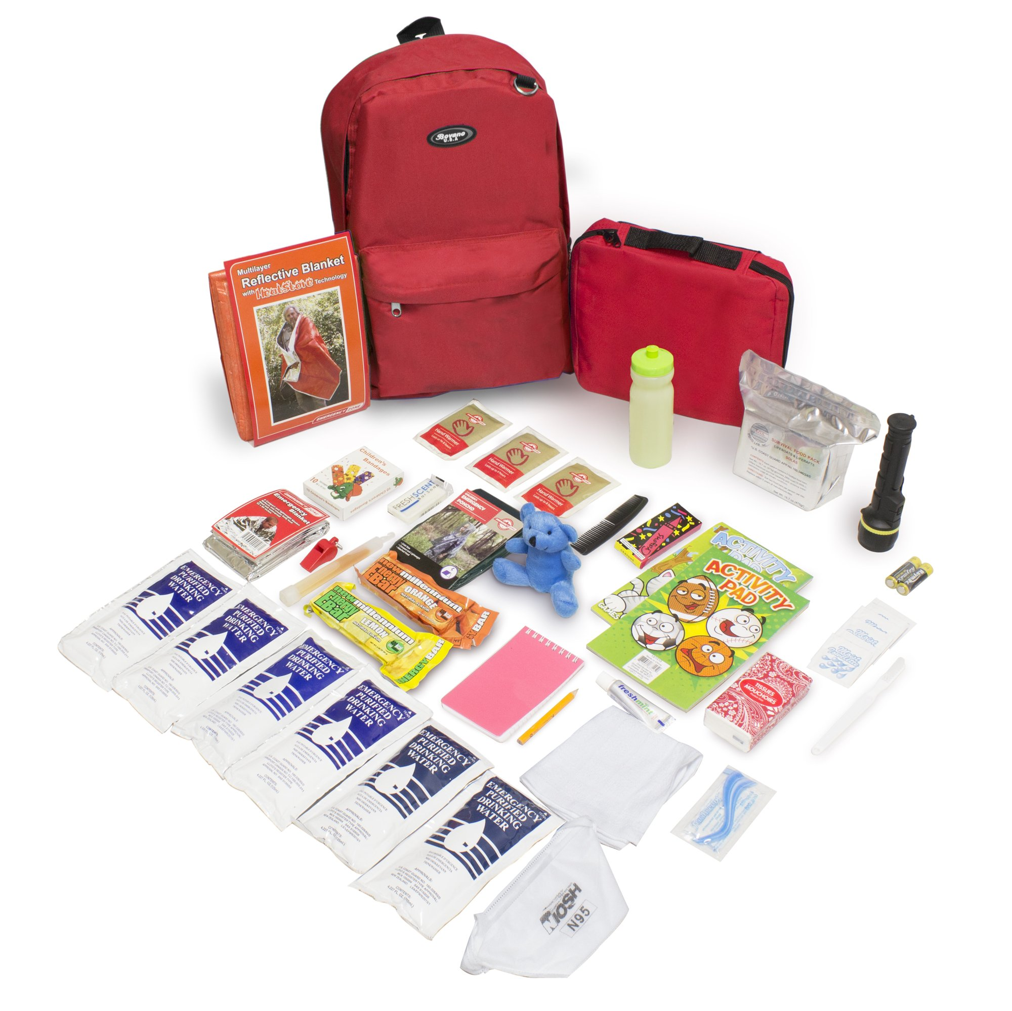 Keep-Me-Safe Children's Deluxe 72-Hr Emergency Survival Kit, Red by Emergency Zone