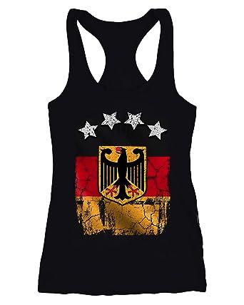 2cc2eca89f2b MoonWorks Cooles Damen Tank-Top Fußball WM Deutschland Flagge Vintage   Amazon.de  Bekleidung
