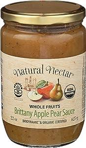 Natural Nectar Apple sauce Pear Biodynamic, 22 Oz