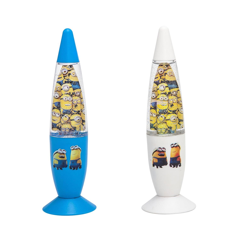 Joy Toy Despicable Me - Minions 90325 - LED Lavalampen mit Glitzer - 2 Motive Sortiert - einzeln in Blisterpackung 18 x 6 cm, blau/weiß blau/weiß
