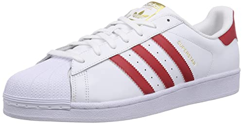 pretty nice 21ec5 d4d2d adidas Originals Men s Superstar Foundation White and Blue Leather Sneakers  ...