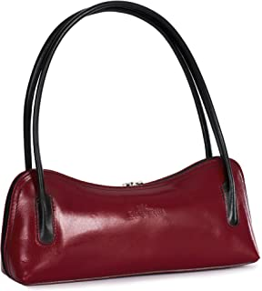 8867a27c7939 LIATALIA Leather Satchel Handbag - Top Handle Buckle Shoulder Bag ...
