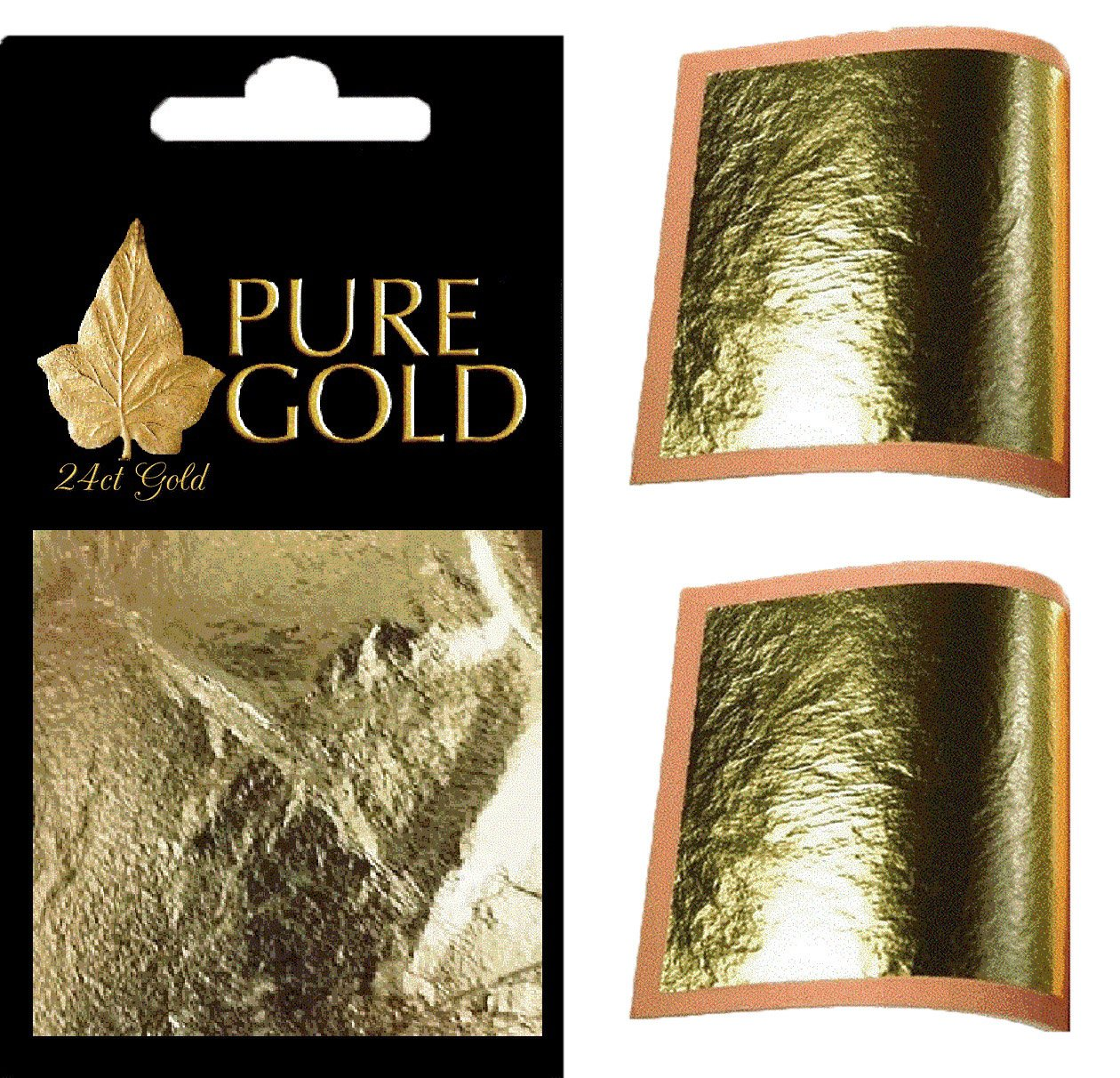 24ct Gold Leaf 100% Genuine 10 sheets pure gold
