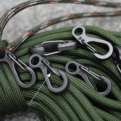 10Pcs//Lot Carabiner Mini Snap Spring Clip Hook Outdoor Survival Tool Gear Clips