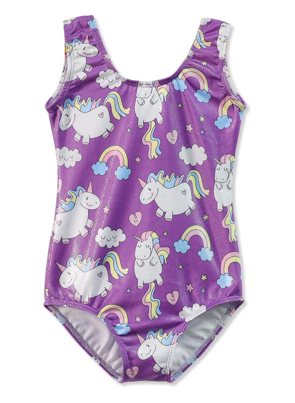 Gymnastics Leotards for Girls Unicorn Pink Purple Sparkly Dancewear Activewear Quick Dry 3