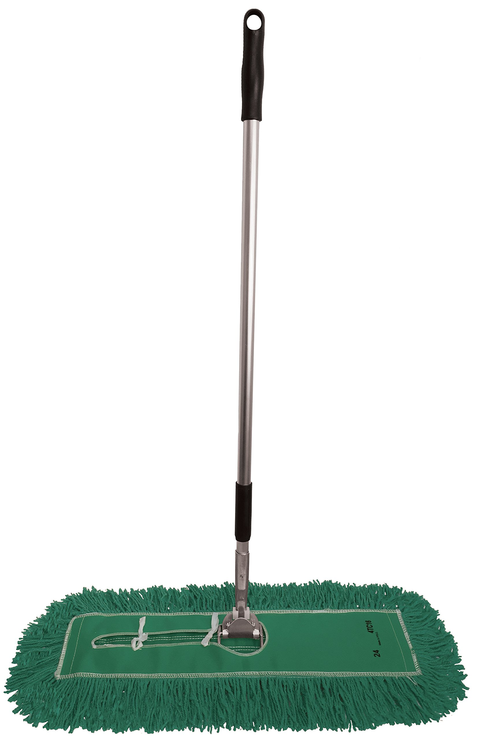 Dust Mop Kit 36'': (1) 36'' Green Industrial Closed-Loop Dust Mop, (1) 36'' Wire Dust Mop Frame & (1) Ergonomic Dust Mop Handle