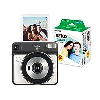 Fujifilm Instax Square SQ6, Color Gris + Película, 2 Pack