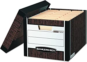Bankers Box R-KIVE Heavy-Duty Storage Boxes, FastFold, Lift-Off Lid, Letter/Legal, Case of 12 (00725)