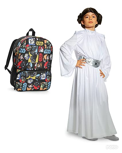 a6963934614 Star Wars Princess LEIA Costume (7 8 Size)   Backpack Bundle  Amazon.in   Sports