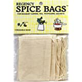 Regency Wraps Set of 4 Bags with Drawstring for Enclosing Bulk Spices, Tea, Potpourri, Jewelry, 100% Cotton, 4 COUNT…