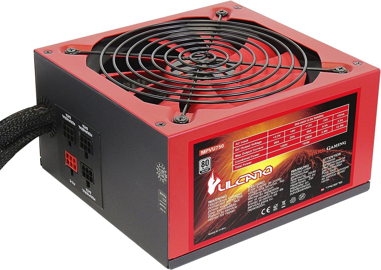 Mars MPVU750 Gaming, fuente PC 750W, 80 plus silver, PFC activo, ventilador 14cm