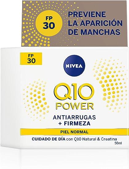 Oferta amazon: NIVEA Q10 Power Antiarrugas Cuidado de Día Triple Defensa FP30 (1 x 50 ml), crema hidratante antiarrugas, crema facial con protector solar 30, crema de día