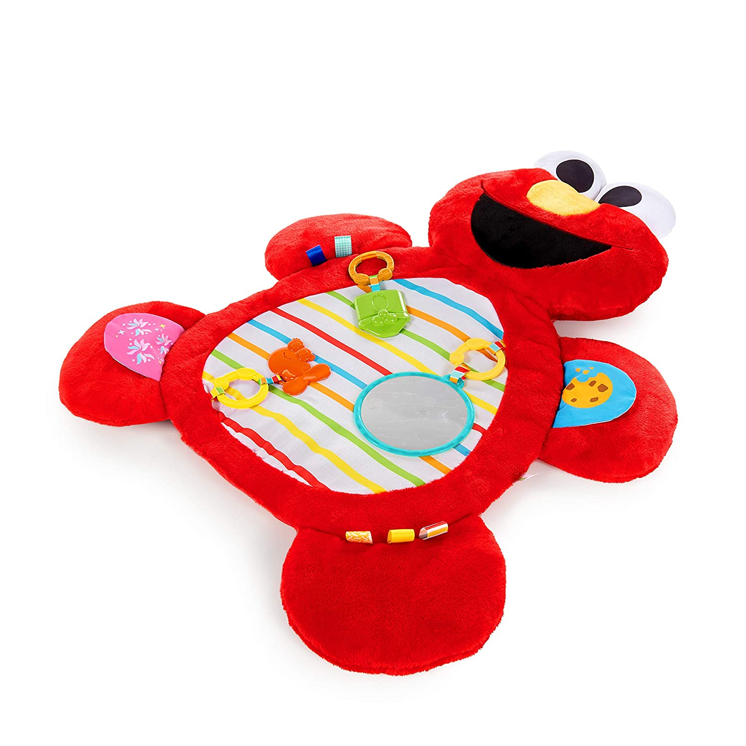 Bright Starts Sesame Street Tummy-Time Elmo Prop Mat, Ages 0-12 Months