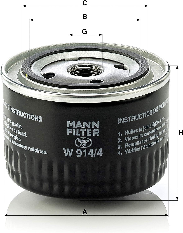 Original Mann Filter Ölfilter W 914 4 Für Pkw Auto